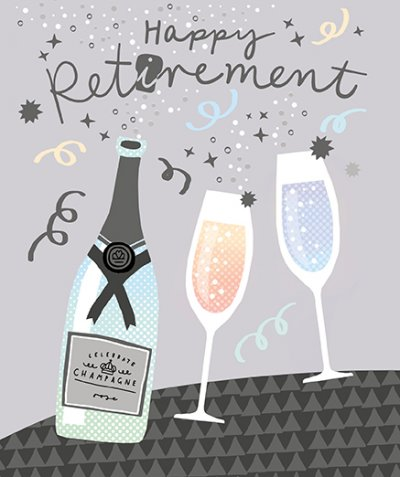 Champagne Retirement Card