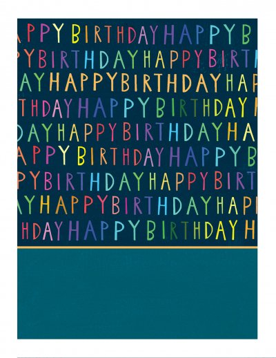 Neon Letters Birthday Card
