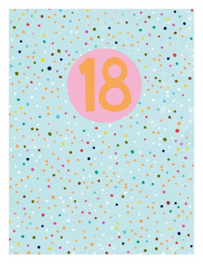 Pink Dots 18th Birthday Card