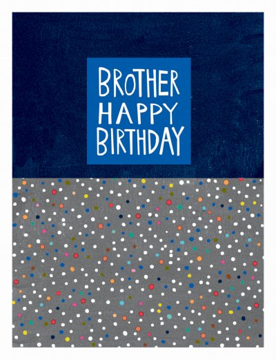 Dots Brother Birthday Card