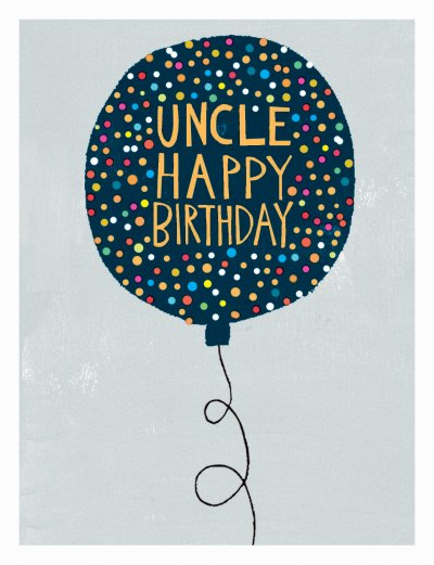 Balloon Uncle Birthday Card