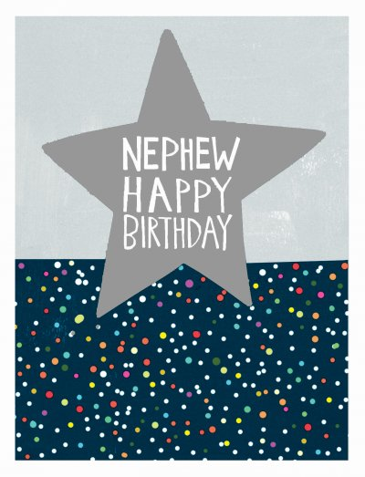 Star Nephew Birthday Card