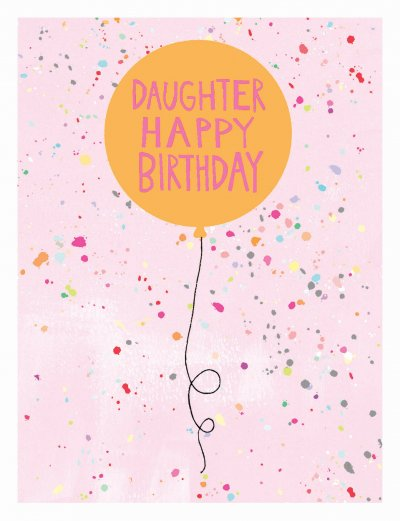 Pink Dots Daughter Birthday Card