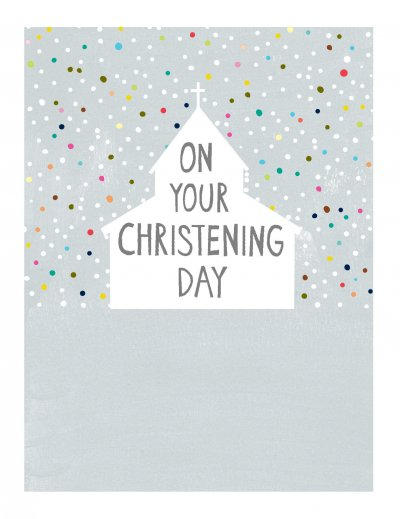 Dots Christening Card