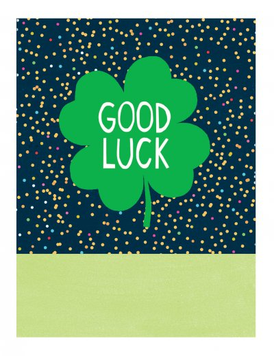 Clover Good Luck Card