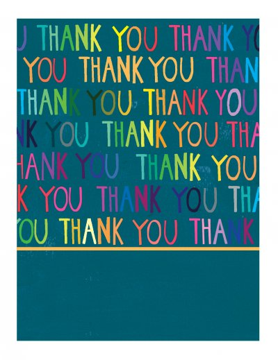 Neon Thank you Card