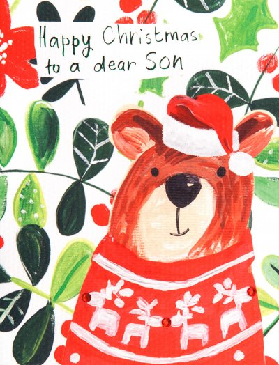 Bear Son Christmas Card