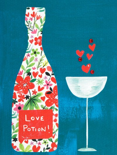 Love Potion Valentines Day Card