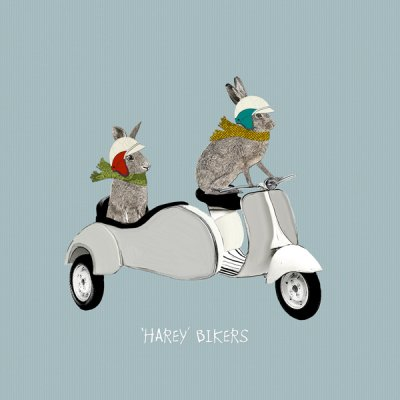 Harey Bikers Greeting Card