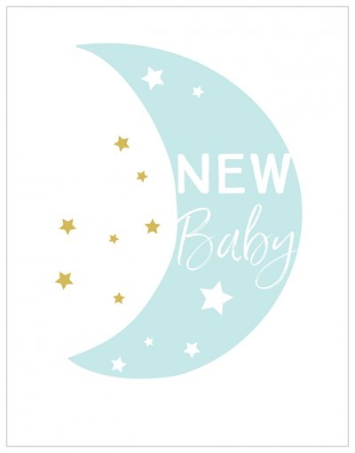 Blue Moon New Baby Card