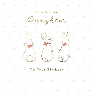 Flopsy Bunny Daughter Birthday Card