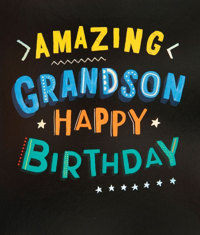 Amazing Grandson Birthday Card