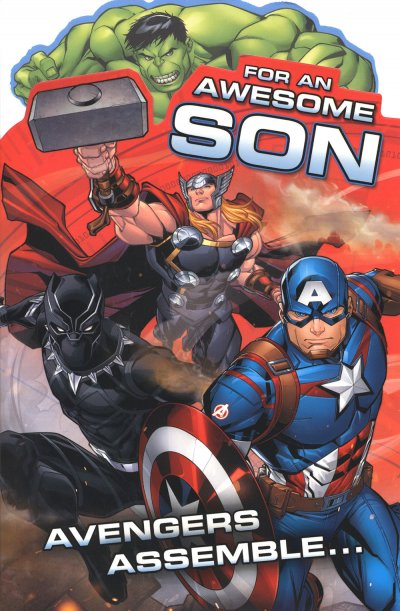 Avengers Son Birthday Card