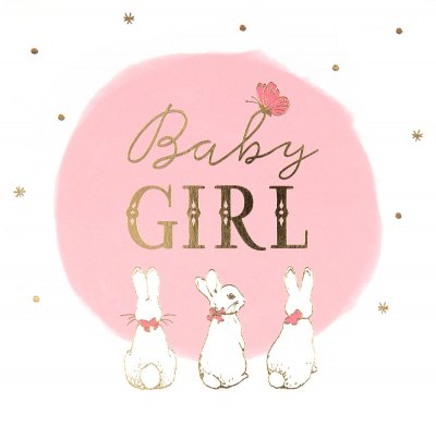 Flopsy Bunny New Baby Girl Card