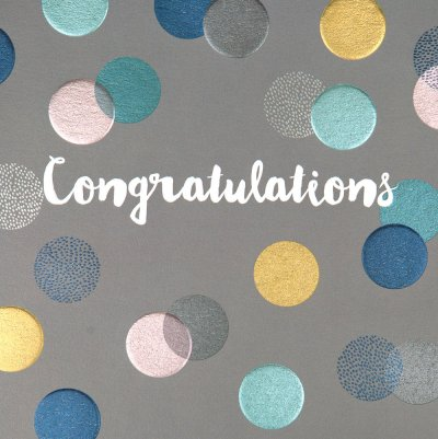 Spots Congratulations Card