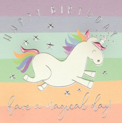 Unicorn Magic Birthday Card