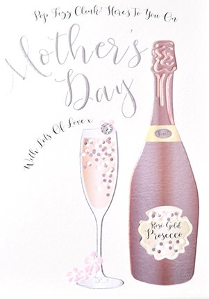 Prosecco Mothers Day Card