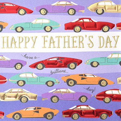 Sports Car Fathers Day Card