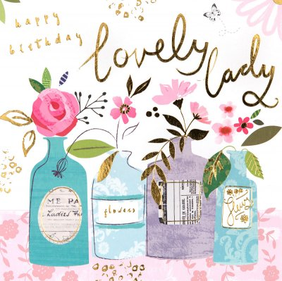 Lovely Lady Birthday Card