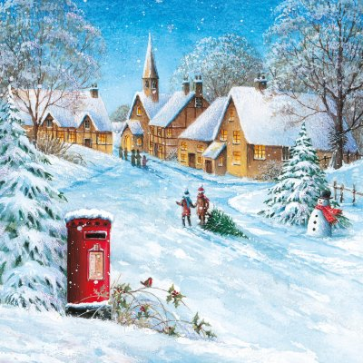 Snowy Village Alzheimers Society Christmas Pack (10)