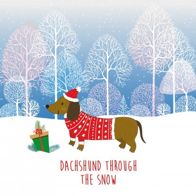 Dachshund in Snow MND Association Christmas Pack (10)