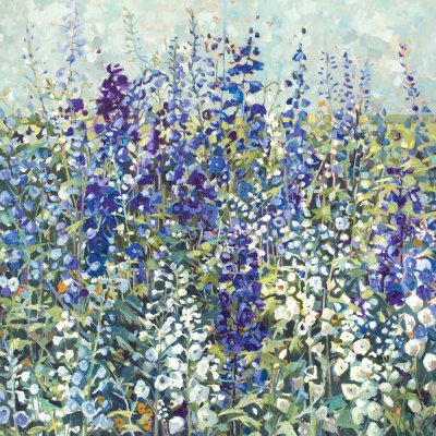 Delphiniums Greetings Card