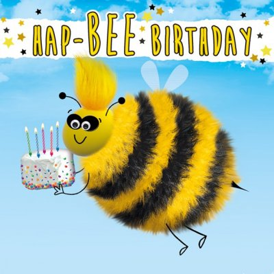 Hap bee Birthday Card