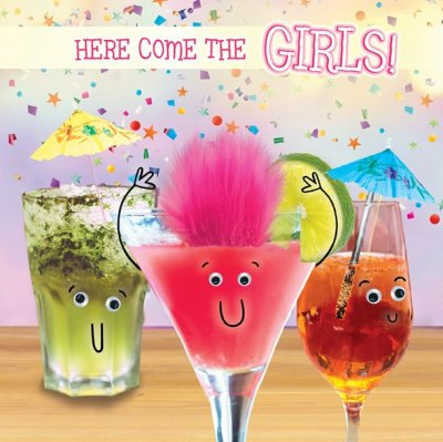 Cocktail Girls Birthday Card