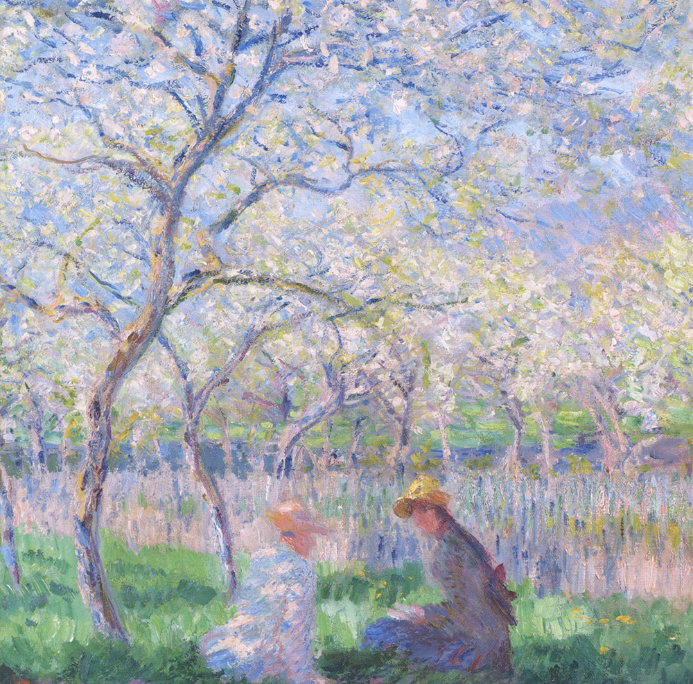 Monet's Springtime Greeting Card