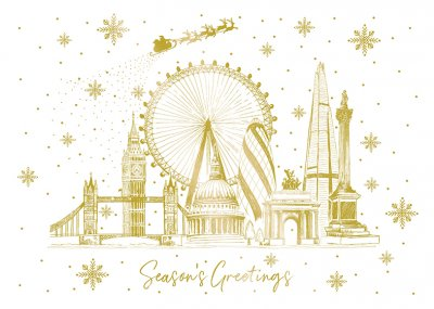 Golden Landmarks Personalised Christmas Card