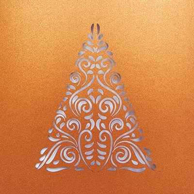 Laser Tree Personalised Christmas Card