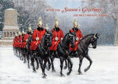 Horse Guards Parade Personalised Christmas Card - Front Personalisation