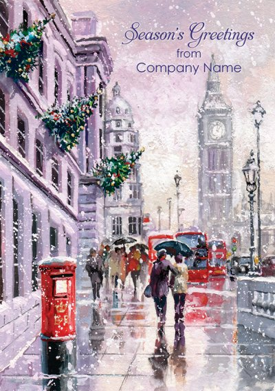 Westminster London Front Personalised Christmas Card