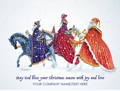 The Magi's Journey Front Personalised Christmas Card