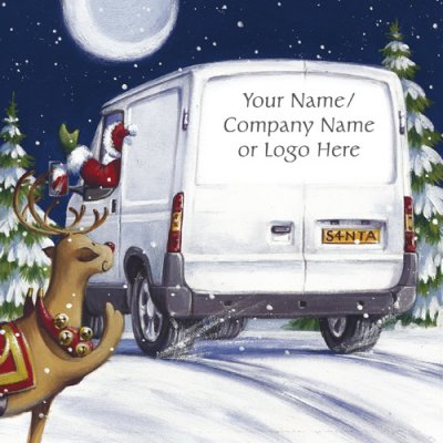 Out for Delivery Personalised Christmas Card