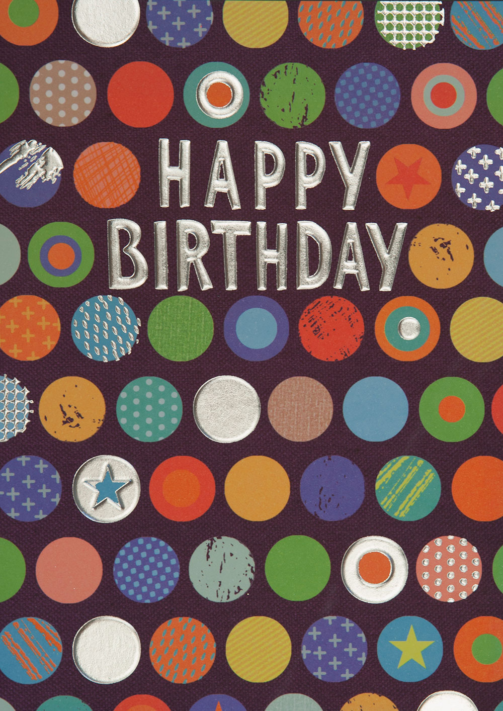 Colourful Spots Birthday Card