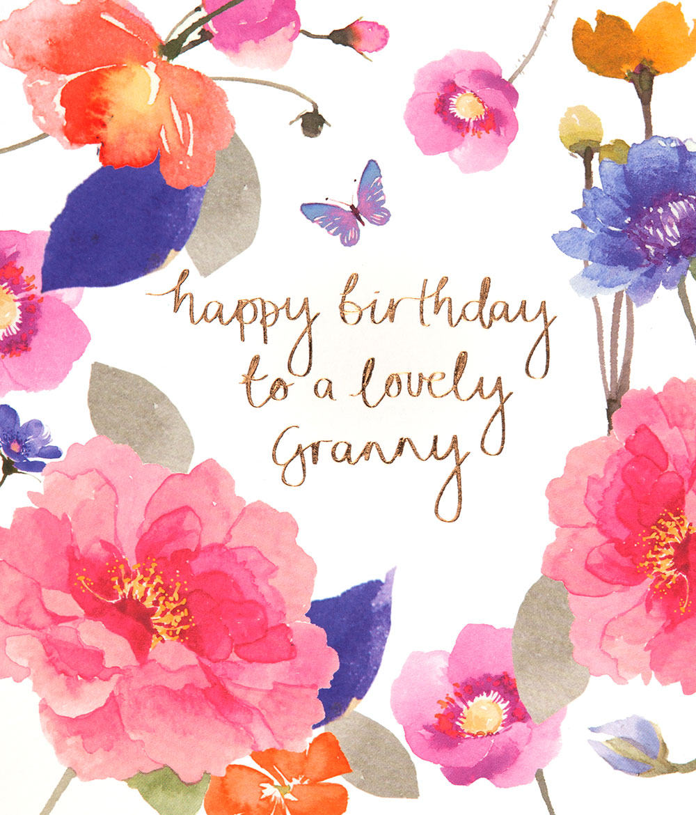 Flowers Granny Birthday Card