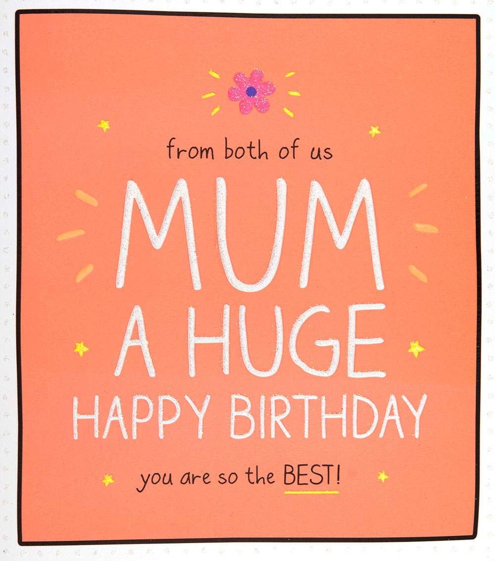 From Both of Us Mum Birthday Card