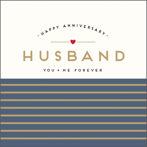 You and Me Husband Anniversary Card