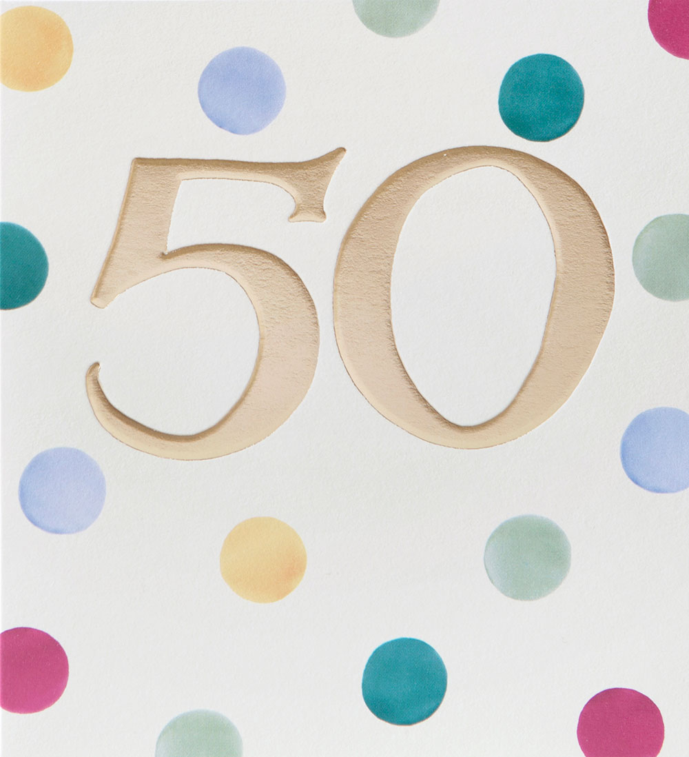 Dots 50th Birthday Card