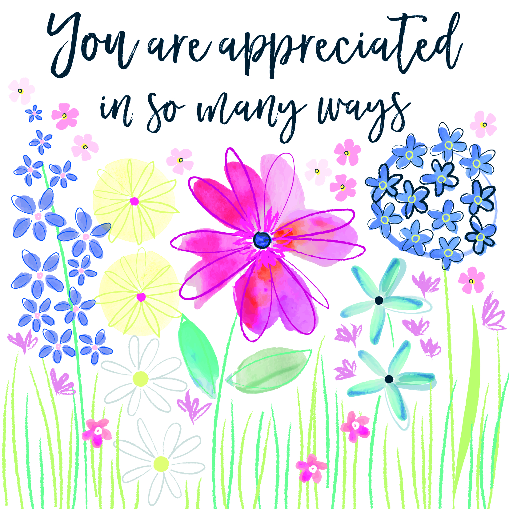 You are Appreciated Thinking of you Card