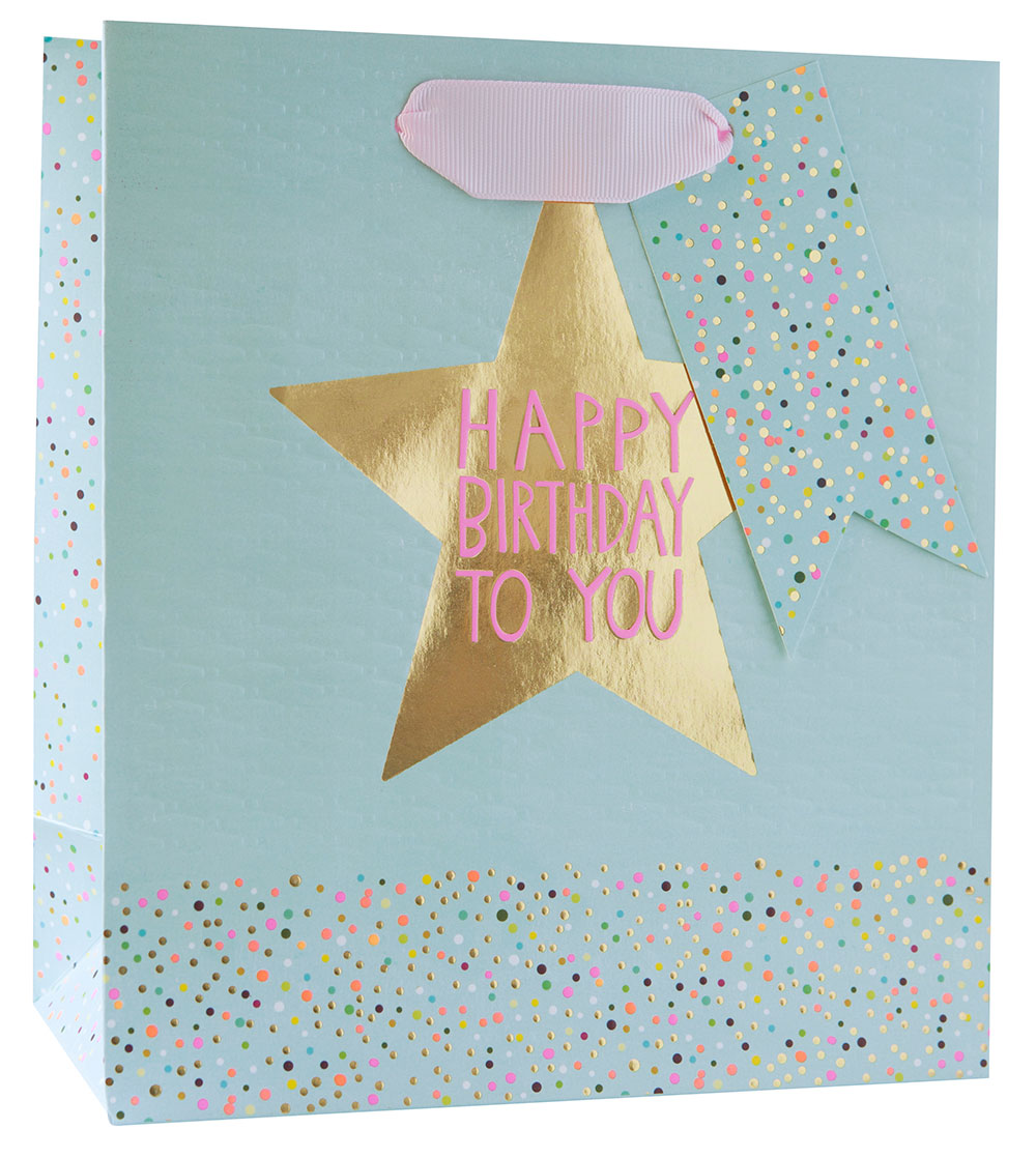 Birthday Star Medium Gift Bag