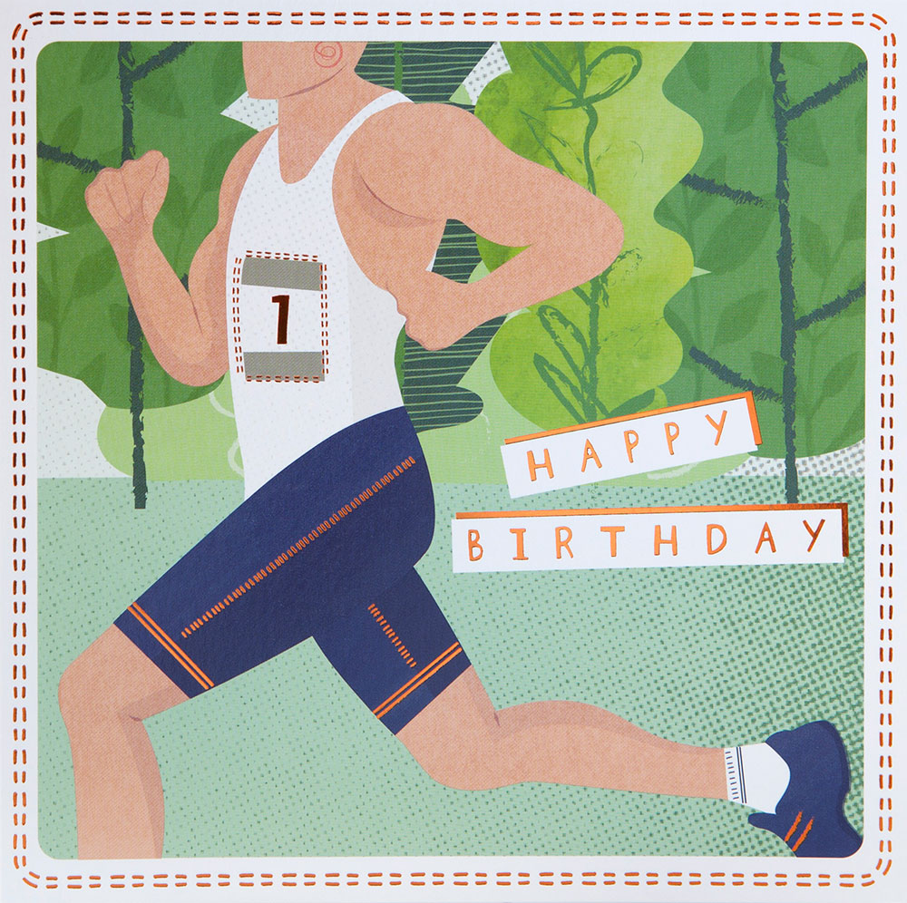 Runner Birthday Card