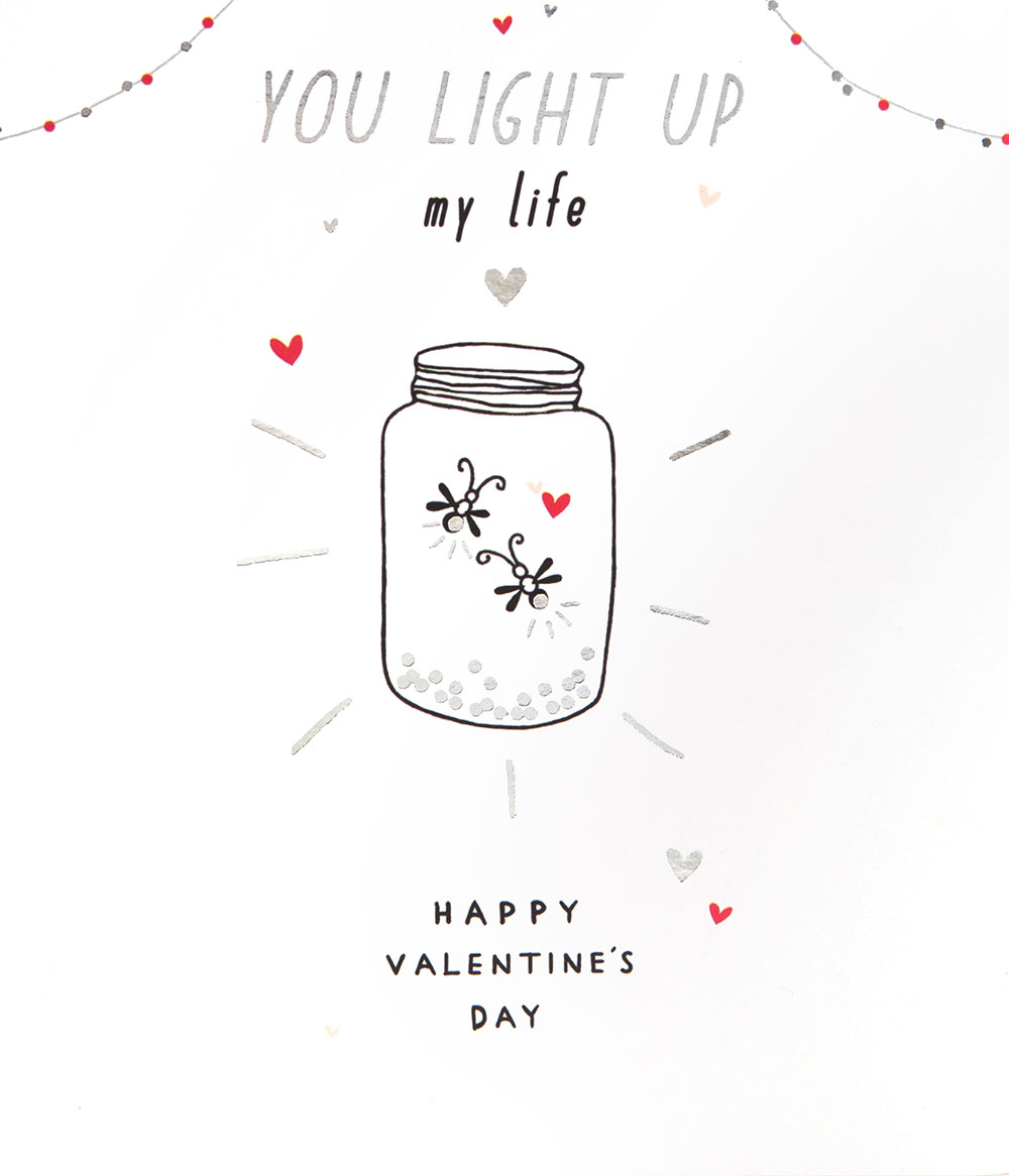 Light Up My Life Valentine's Day Card