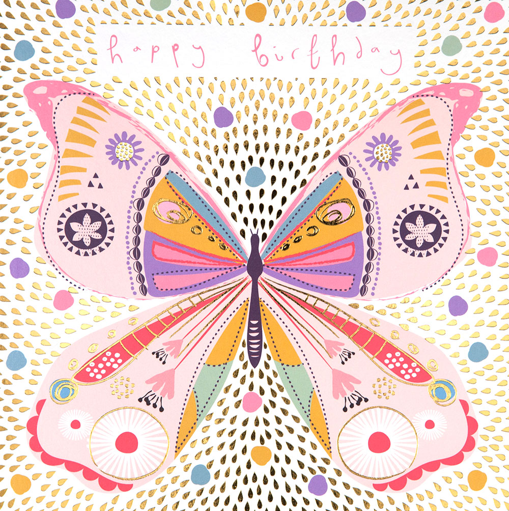 Colourful Butterfly Birthday Card