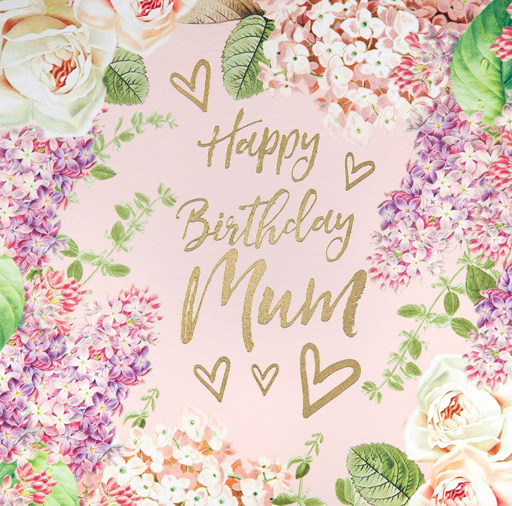 Vintage Floral Mum Birthday Card