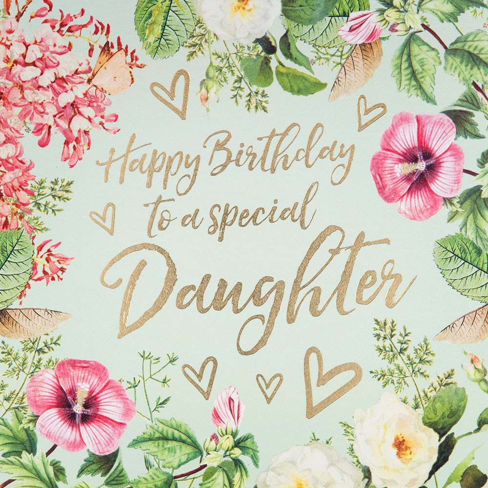 Vintage Floral Daughter Birthday Card
