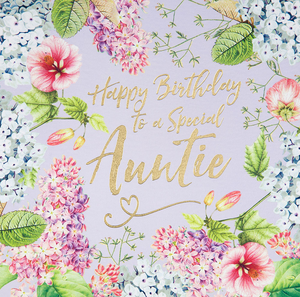 Vintage Floral Auntie Birthday Card