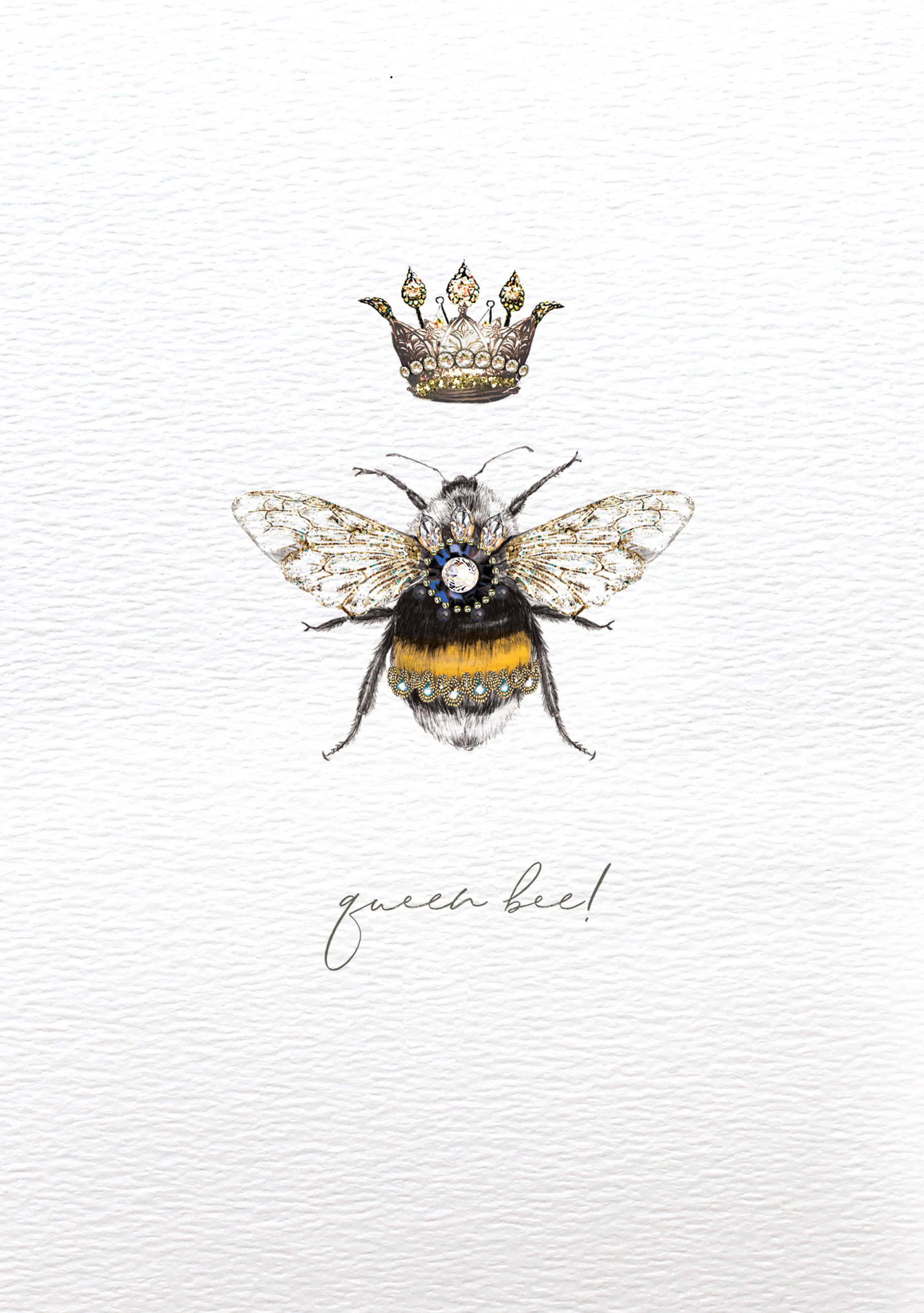Queen Bee Birthday Card
