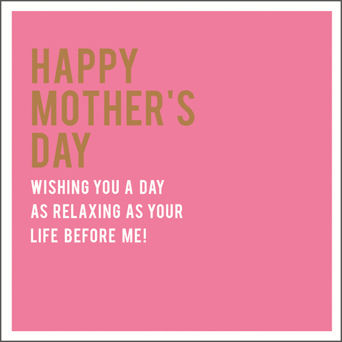 Relaxing Mother's Day Card